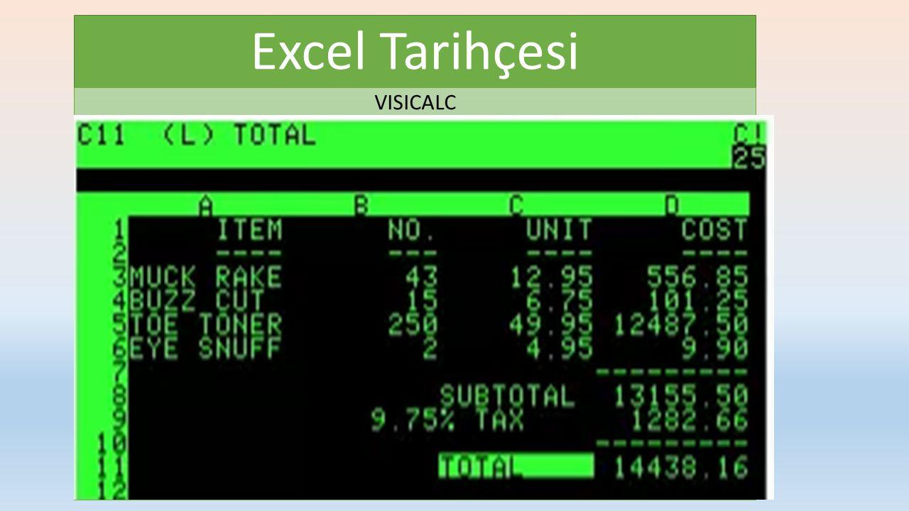 Excel Tarihçesi VISICALC