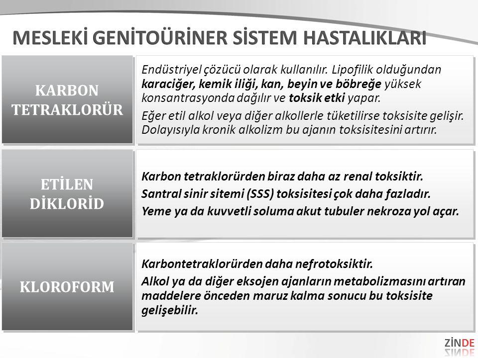 KARBON TETRAKLORÜR KARBON TETRAKLORÜR Endüstriyel çözücü olarak kullanılır.