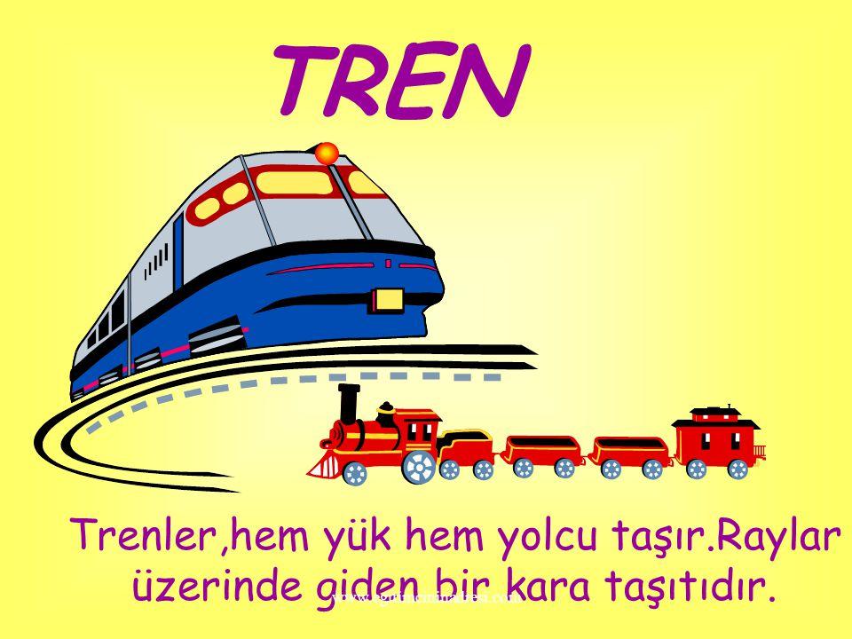 TRAMVAY Tramvay eskiden çok kullanılan bir taşıttı.Tramvayı kullanan sürücüye VATMAN denir. www.egitimcininadresi.com