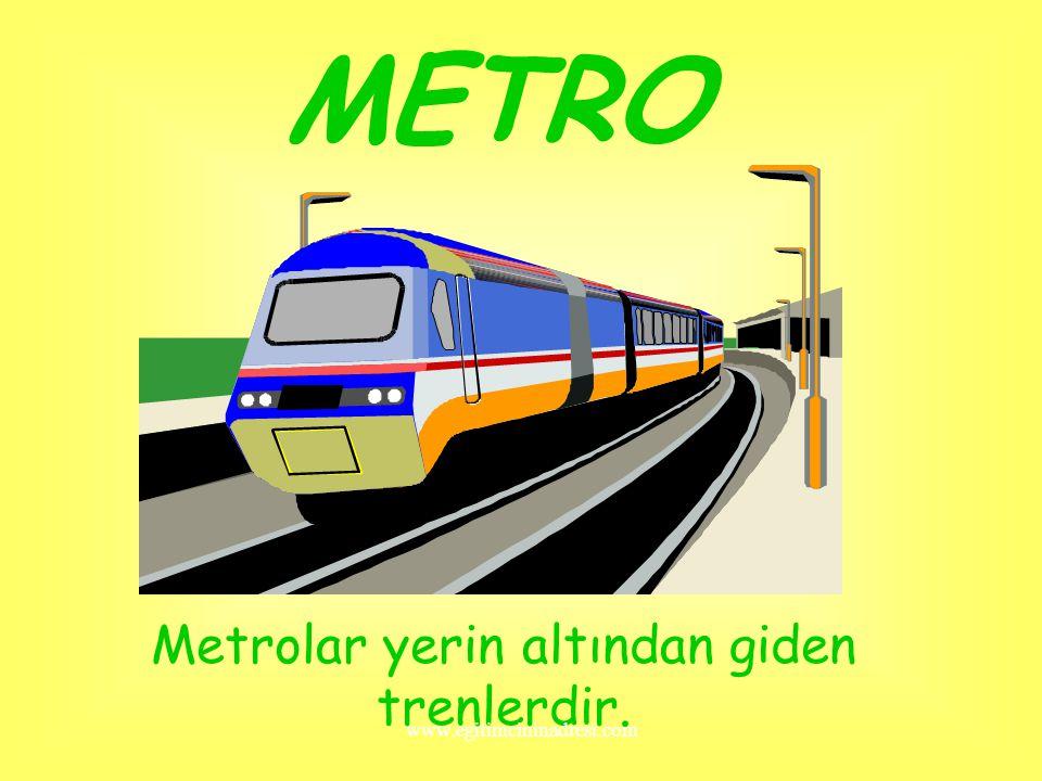 TREN Trenler,hem yük hem yolcu taşır.Raylar üzerinde giden bir kara taşıtıdır. www.egitimcininadresi.com