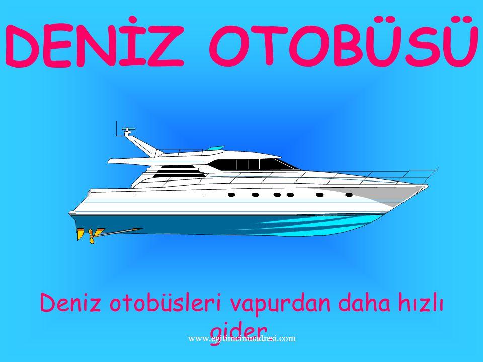 FERİBOT Araba vapuruna feribot denir.Arabaları bir iskeleden diğerine götürür. www.egitimcininadresi.com