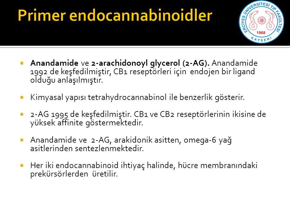  Anandamide ve 2-arachidonoyl glycerol (2-AG).