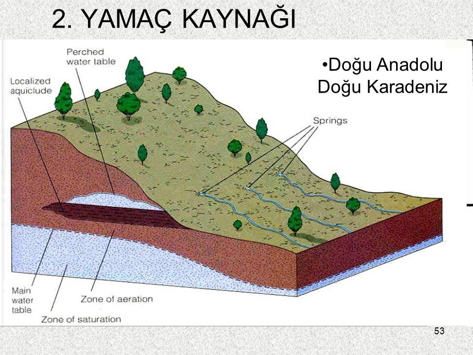 53 2. YAMAÇ KAYNAĞI Doğu Anadolu Doğu Karadeniz