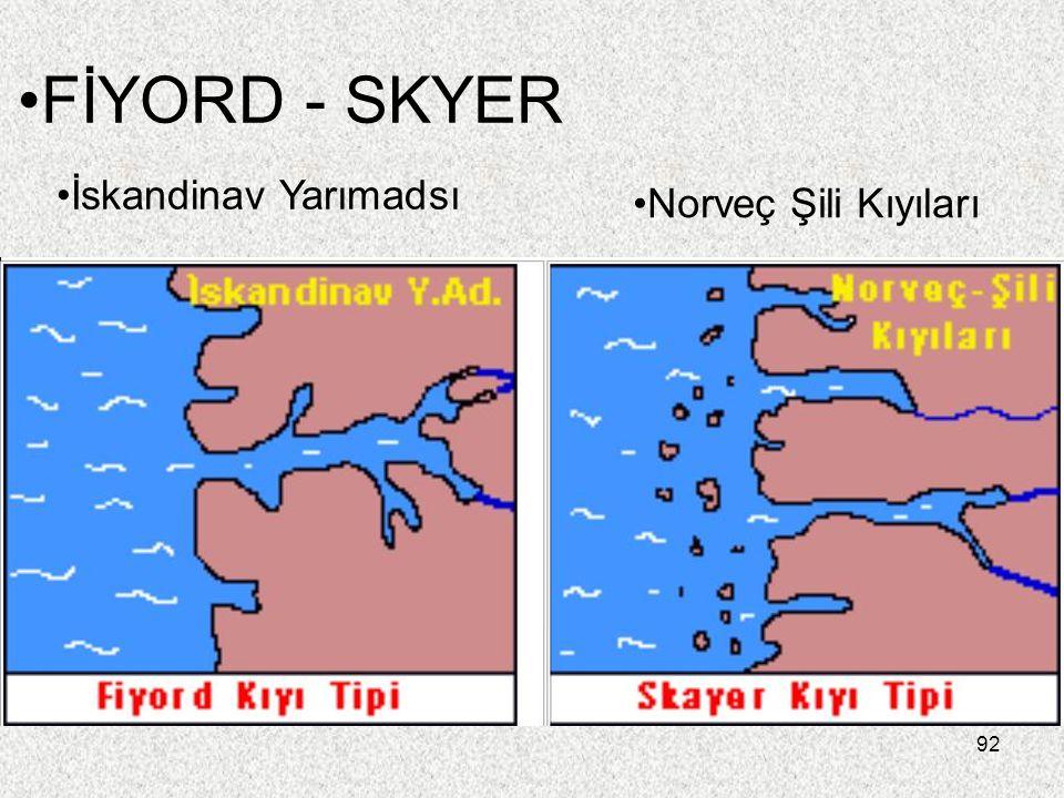 92 FİYORD - SKYER İskandinav Yarımadsı Norveç Şili Kıyıları
