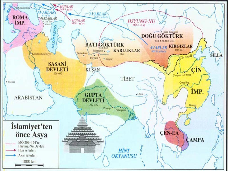 İslamiyet Öncesi Asya'da Dini Durum: Bizans (Hristiyan- ortodox), Sasaniler (Zerdüşt), Kök Türk Devleti (Gök Tanrı dini), Çin (Konfiçyüsizm, Taoizm, Budizm), Hindistan (Brahmanizm), Japonya (Şintoizm) İslamiyet Öncesi Asya'da Siyasi Durum: Bizans, Sasaniler, Kök Türk Devleti ve Çin Asya'nın güçlü devletleri idi.