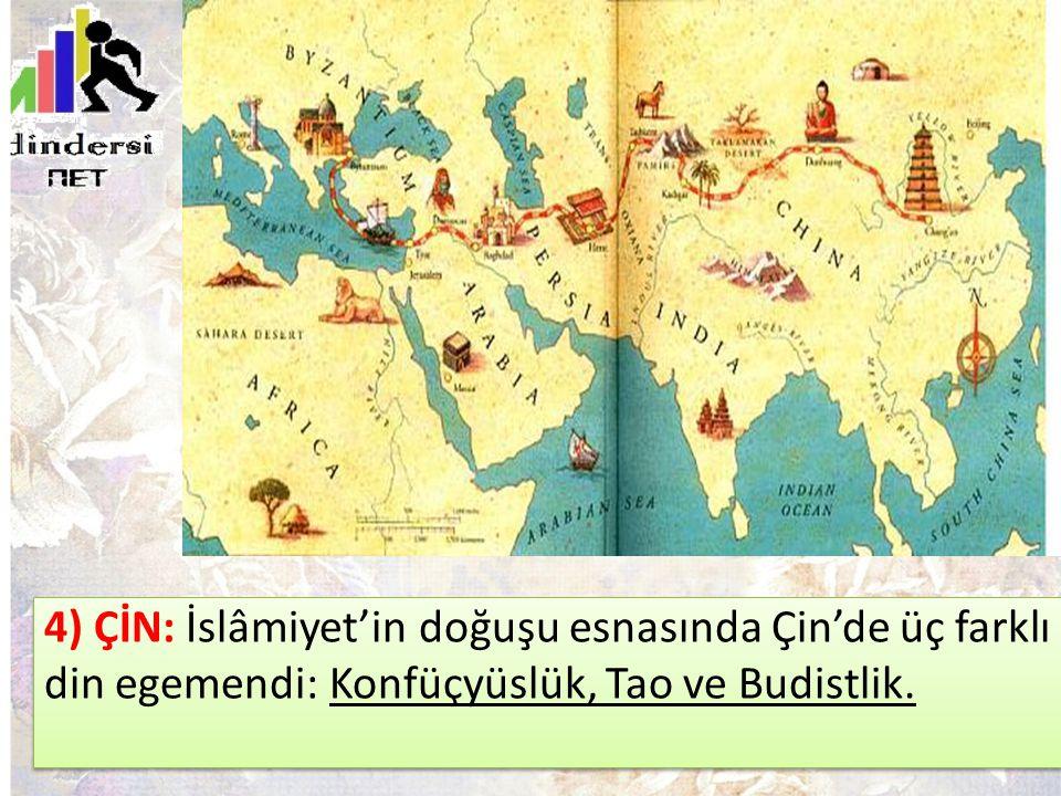 İslamiyet Öncesi Arap Yarımadası'da Dini Durum: Putperestlik, Hristiyanlık ve Yahudilik yaygındı.