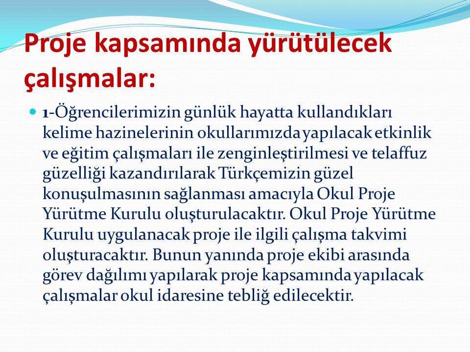 2-Okulumuz Türkçe Öğretmeni ve sınıf rehber öğretmenleri görüş alışverişinde bulunarak her sınıfa bir kelime kumbarası oluşturacaktır.