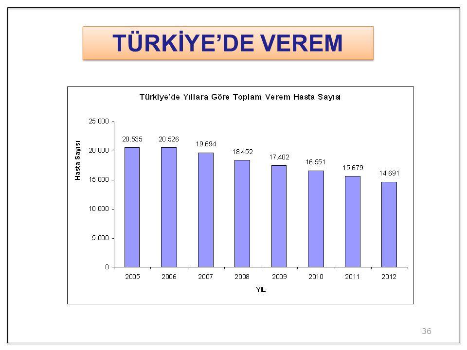 36 TÜRKİYE'DE VEREM