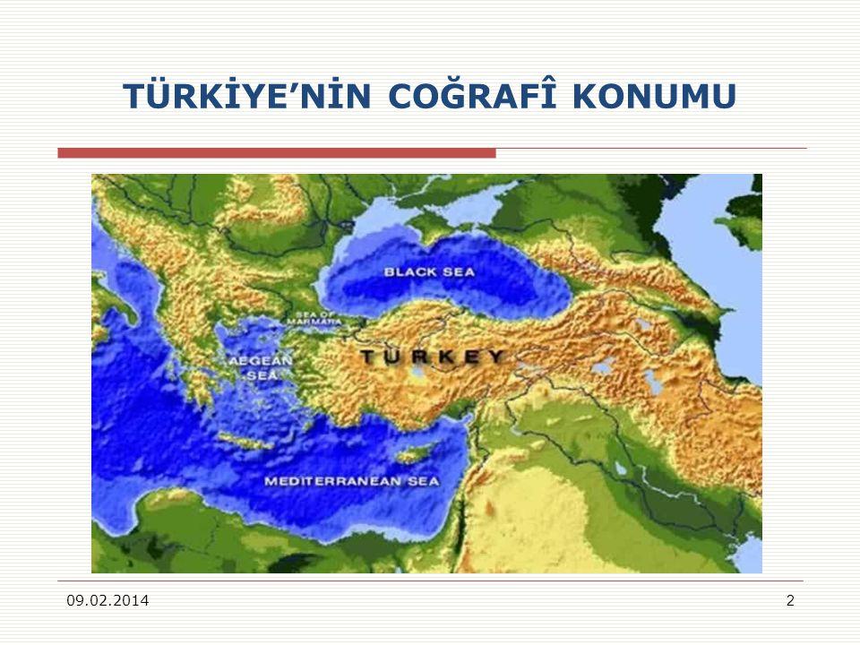 TÜRKİYENİN COĞRAFÎ KONUMU 09.02.20142