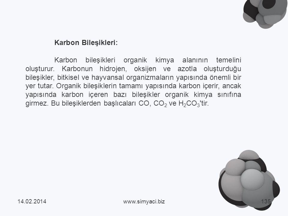 Karbon Bileşikleri: Karbon bileşikleri organik kimya alanının temelini oluşturur.