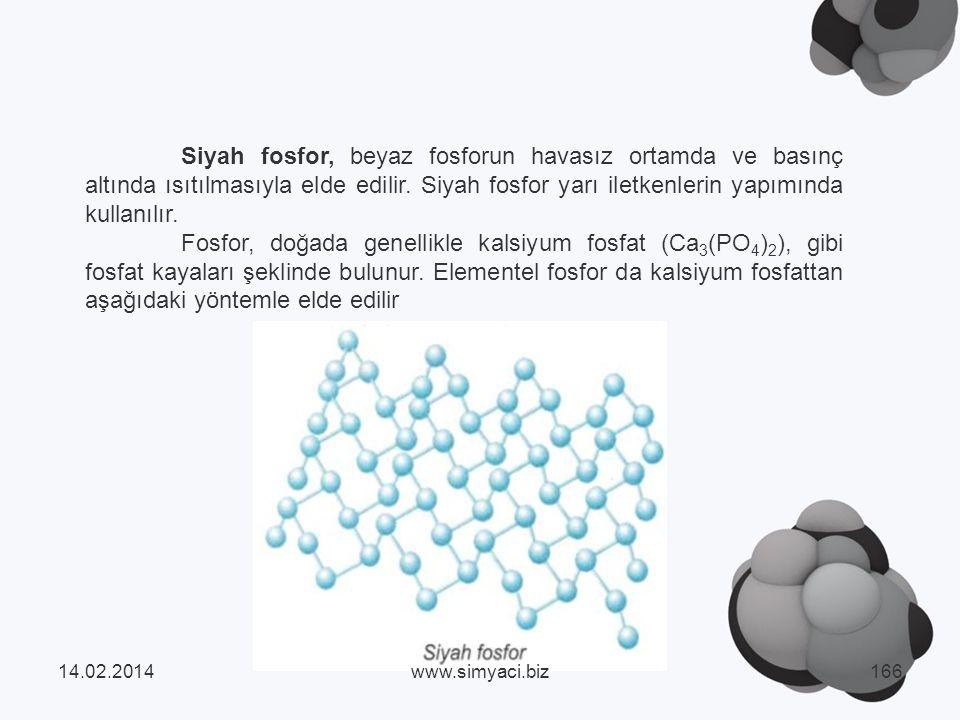 Siyah fosfor, beyaz fosforun havasız ortamda ve basınç altında ısıtılmasıyla elde edilir.