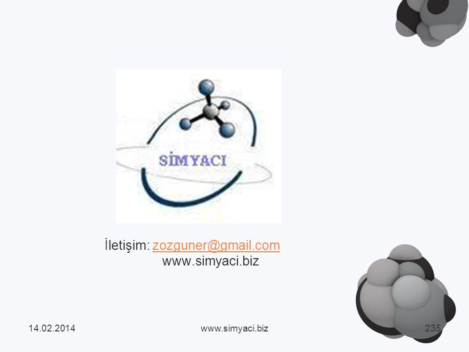 İletişim: zozguner@gmail.com www.simyaci.bizzozguner@gmail.com 14.02.2014www.simyaci.biz235