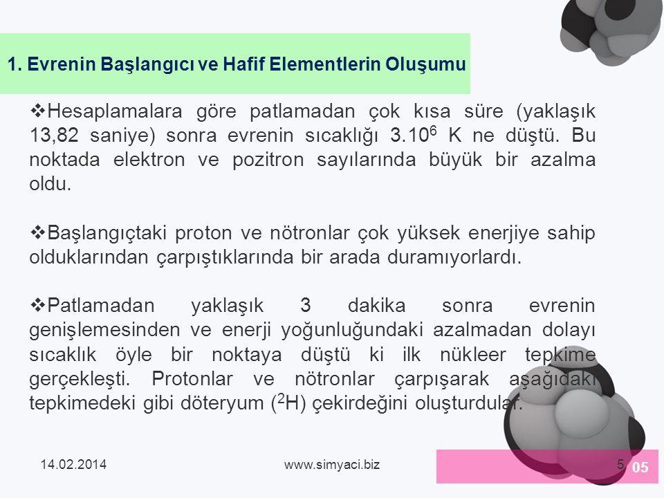 Hidrojen atom numarası en küçük olan ve kainatta en çok bulunan elementtir.