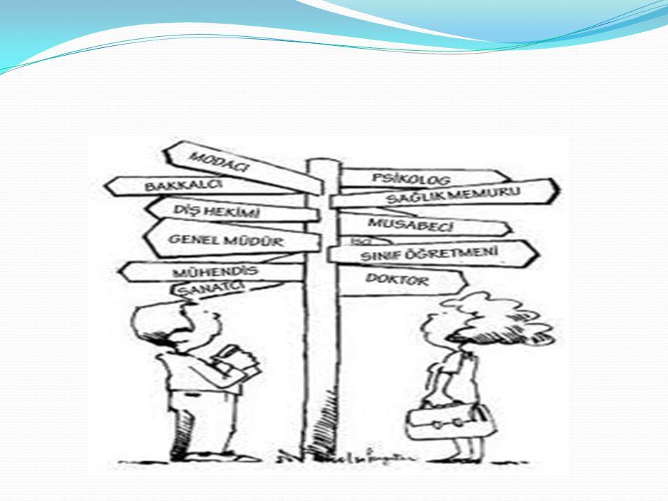 MESLEK SEÇİMİNDE DÖNÜM NOKTALARI 8. SINIF SONUNDA LİSE TERCİHİ; Meslek liseleri ve İmam-Hatip liseleri, Anadolu ve Fen liseleri, Sosyal bilimler, Spor