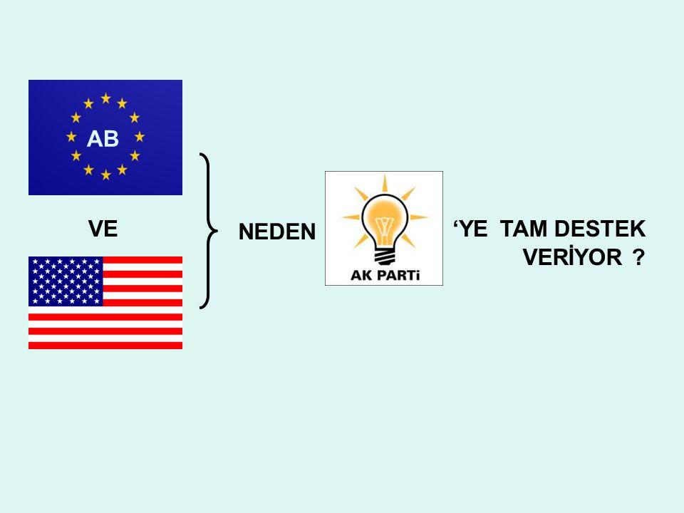 AB NEDEN TAM DESTEKVE'YE VERİYOR