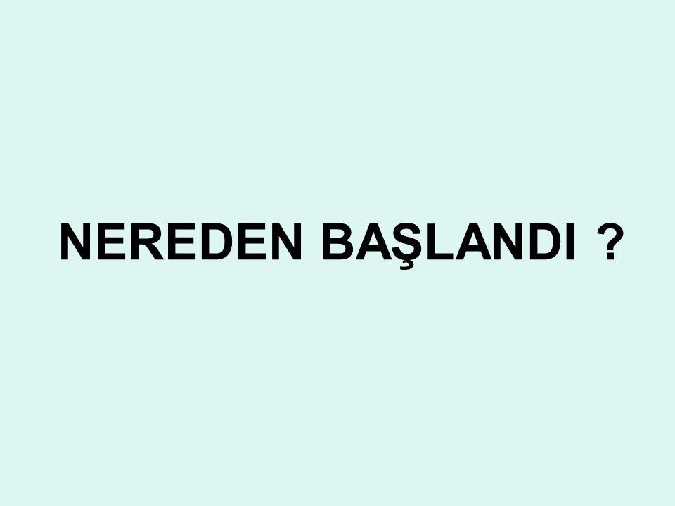 NEREDEN BAŞLANDI