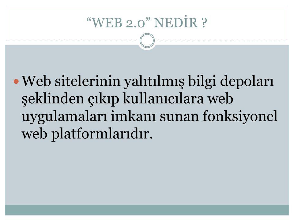 WEB 2.0 NEDİR .