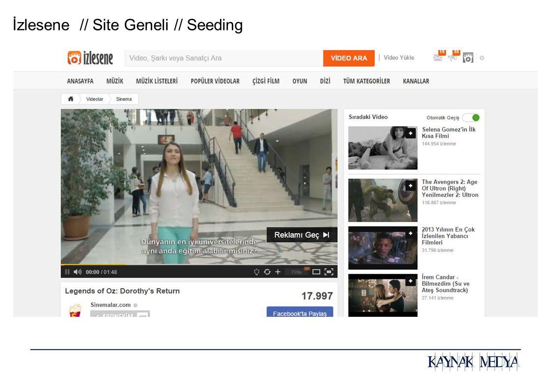 İzlesene // Site Geneli // Seeding