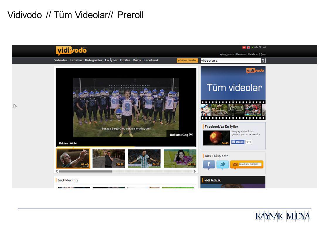 Vidivodo // Tüm Videolar// Preroll