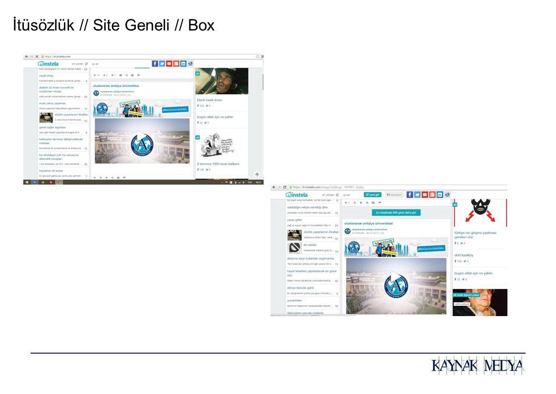 İtüsözlük // Site Geneli // Box