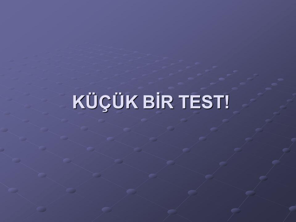 KÜÇÜK BİR TEST!