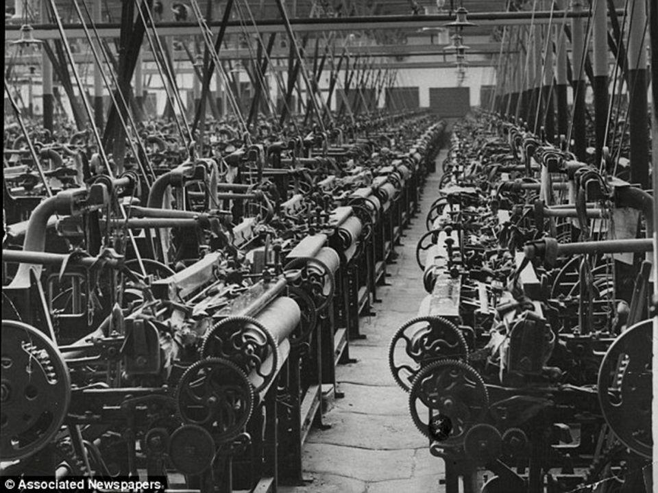 Sanayi Devrimi Buhar makinesinin icadı (verimliliğin artışı) Uçak,telgraf ve radyonun icadı (yeni iletişim yolları) Rahatsız edici yaşam koşulları (işçiler kalabalık koğuşlarda yaşamaktadır ve bulaşıcı hastalıklar yaygındır) Kısa yaşam süresi Çocuk işçiler (ucuz işçiler) Kirlilik (hava kirliliği, su kirliliği)