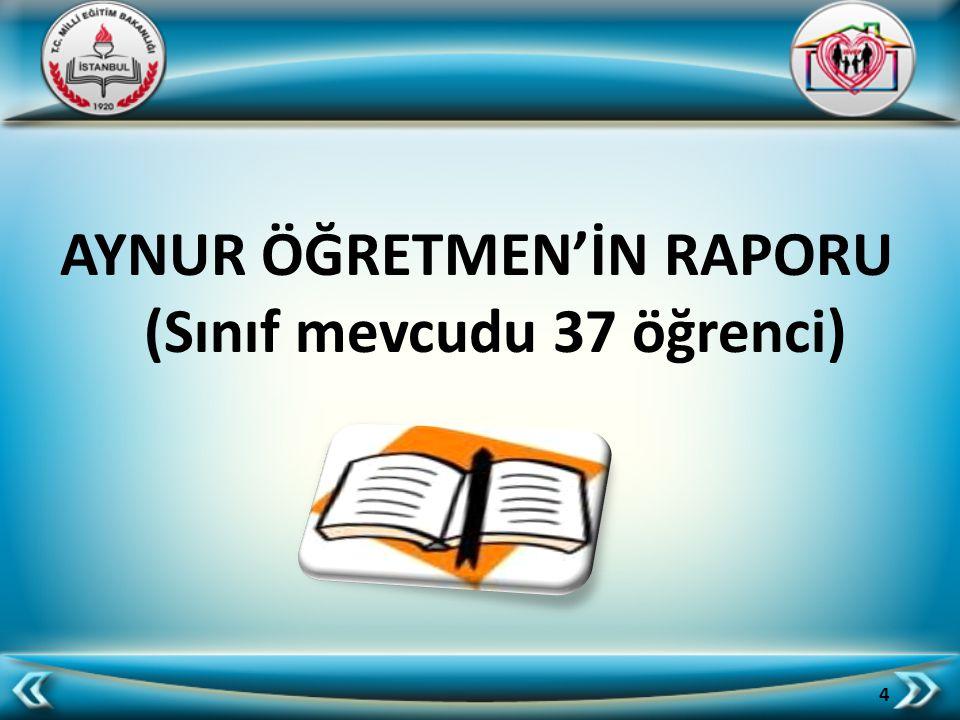 AYNUR ÖĞRETMEN'İN RAPORU (Sınıf mevcudu 37 öğrenci) 4