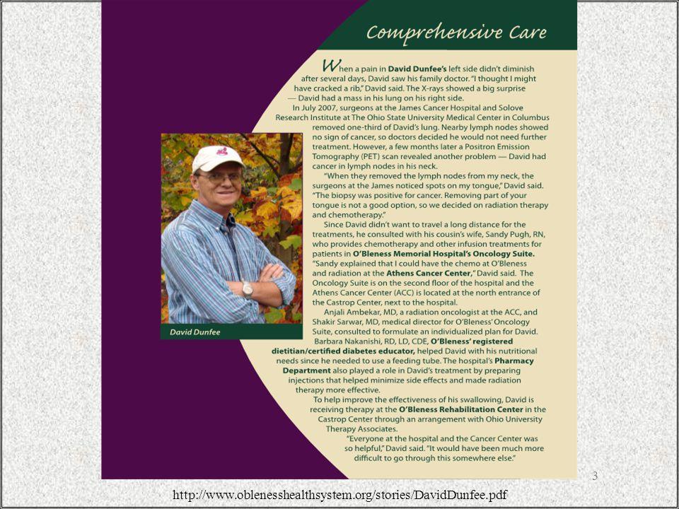 3 http://www.oblenesshealthsystem.org/stories/DavidDunfee.pdf
