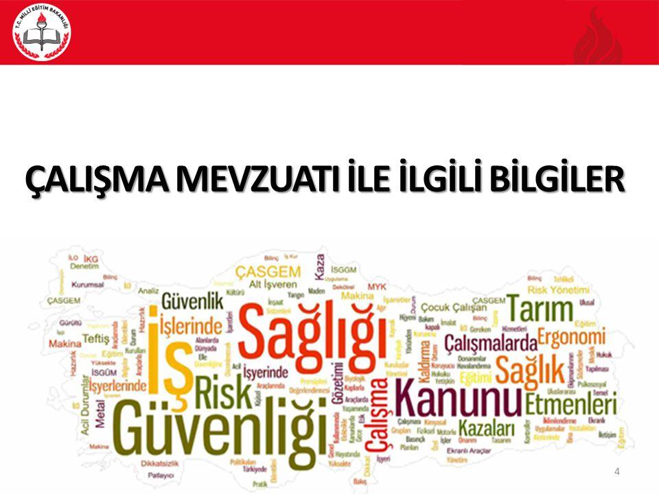 55 Milli Eğitim Bakanlığı 2014/16 Sayılı Genelge ÇALIŞMA MEVZUATI İLE İLGİLİ BİLGİLER 16- Bakanlık Merkez ve Taşra Teşkilatında, MEB birimlerinde ISG uygulamalarının İzleme ve Değerlendirilmesi, İnsan Kaynakları Genel Müdürlüğü, Bütçe ilgili iş ve işlemler Destek Hizmetleri Genel Müdürlüğü ile Planlama işlemleri Strateji Daire Başkanlığınca yürütülür.