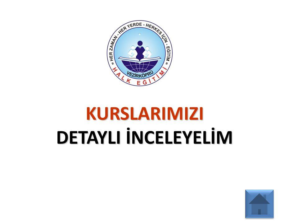 2012 - 2013 EĞİTİM ÖĞRETİM YILI VEZİRKÖPRÜ HALK EĞİTİMİ MERKEZİ MÜDÜRLÜĞÜ ÇALIŞMA RAPORU: Yabancı dil kurslarıyla ilgili olarak 2 adet kurs açılmış ve bu kurslardan 38 vatandaşımız faydalanmıştır.