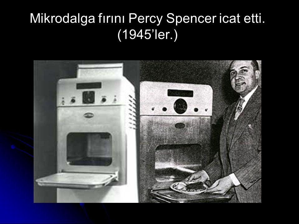 Mikrodalga fırını Percy Spencer icat etti. (1945'ler.)