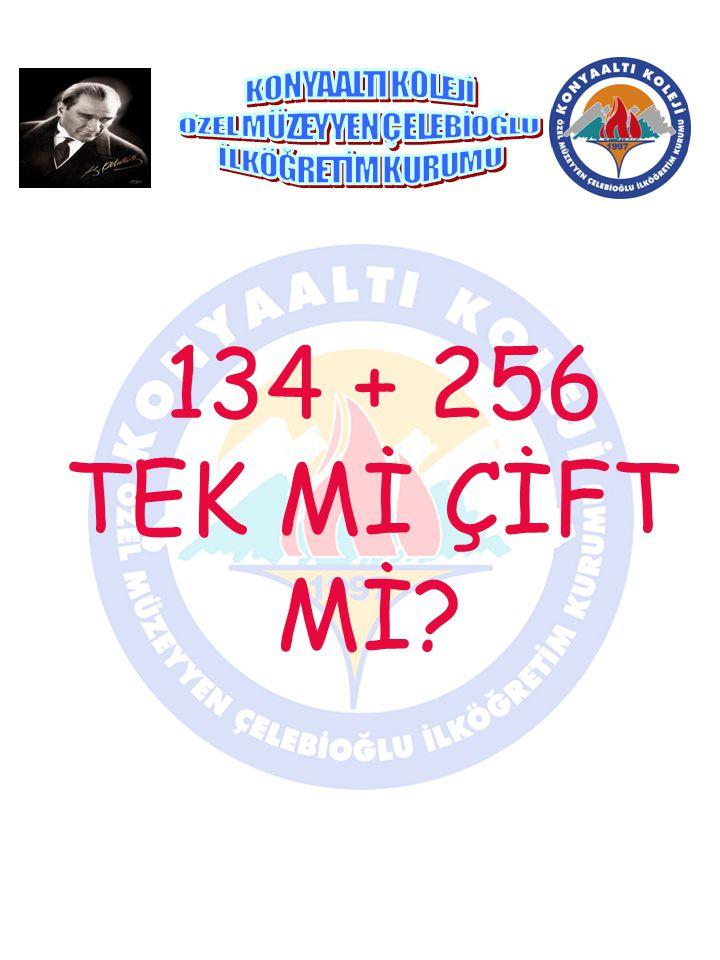 134 + 256 TEK Mİ ÇİFT Mİ?