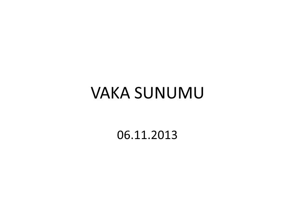 VAKA SUNUMU 06.11.2013
