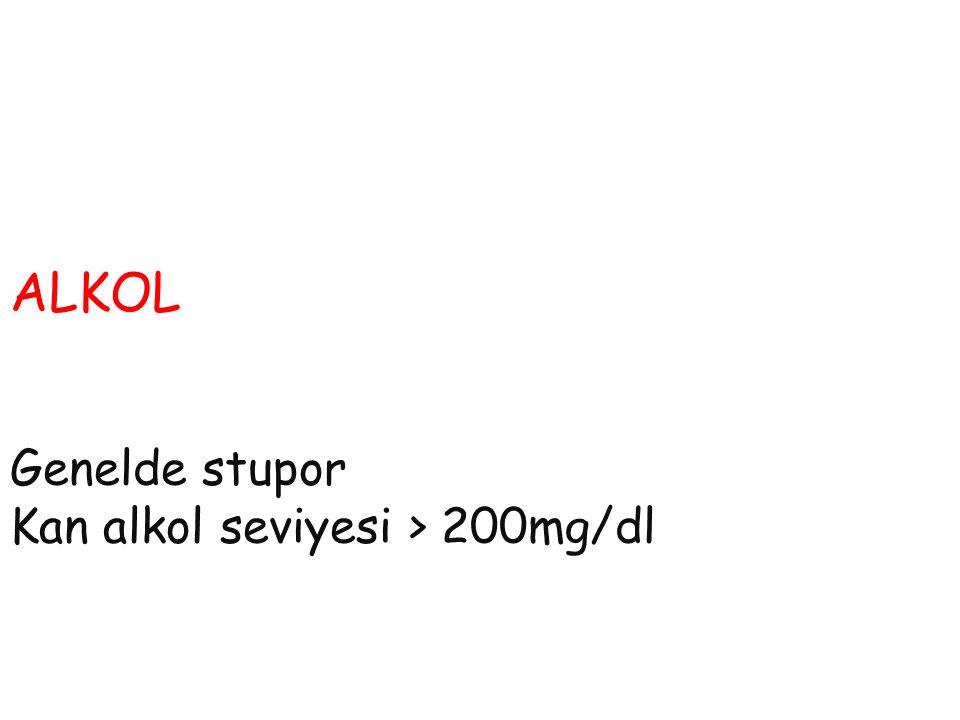 Bilinç bulanıklığı Sebebleri Alkol Endokrin Elektrolit Insulin Opiad Uremi Toksin Travma Yemperature Infections Psikoz Porfiri SAK Stroke Shock space occupying lesion