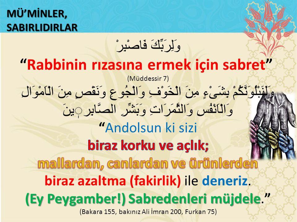 MÜ'MİNLER,SABIRLIDIRLAR