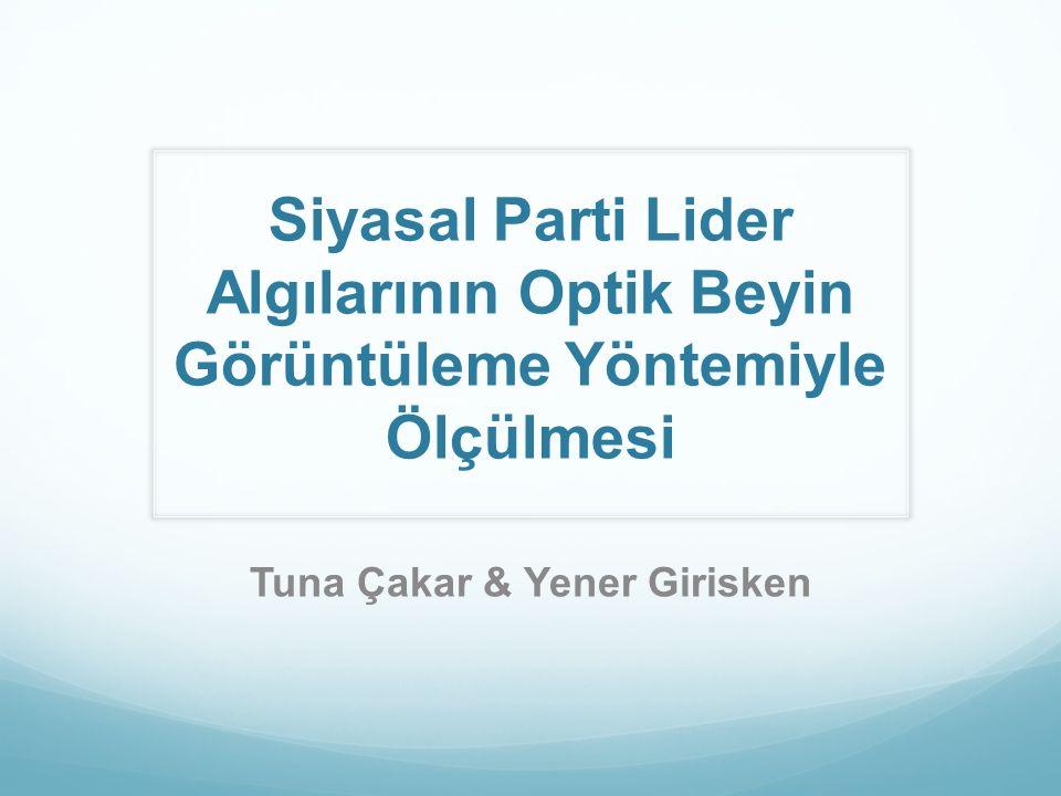 Siyasal Parti Lider Algılarının Optik Beyin Görüntüleme Yöntemiyle Ölçülmesi Tuna Çakar & Yener Girisken