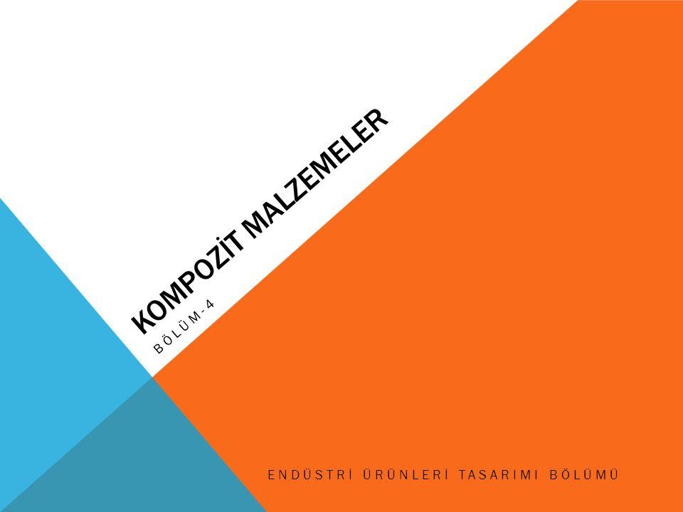 KOMPOZİT MALZEMELER BÖLÜM-4 ENDÜSTRİ ÜRÜNLERİ TASARIMI BÖLÜMÜ