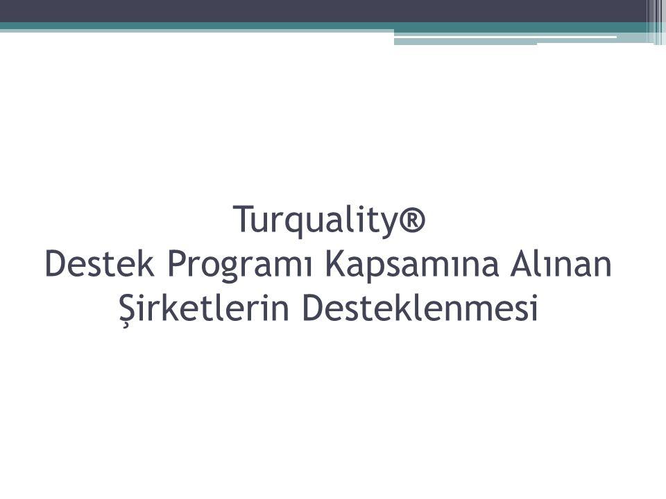Turquality® Destek Programı Kapsamına Alınan Şirketlerin Desteklenmesi