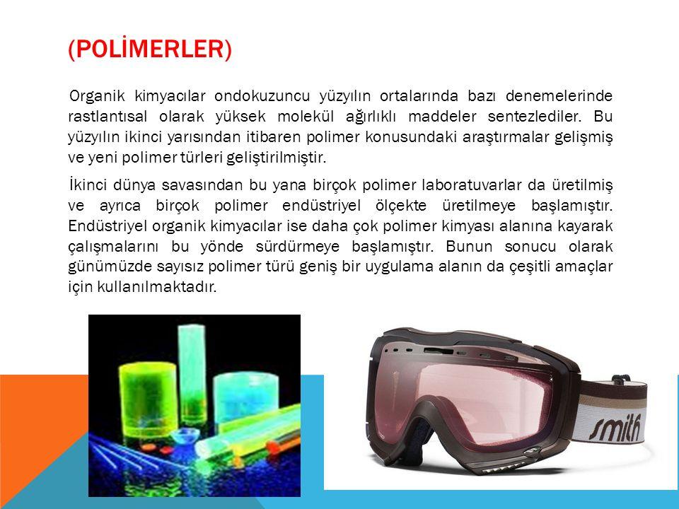 YAYGIN OLARAK KULLANILAN PLASTİK TÜRLERİ PolietilenPolietilen (Polyethylene) (PE): Geniş bir kullanım alanı vardır.