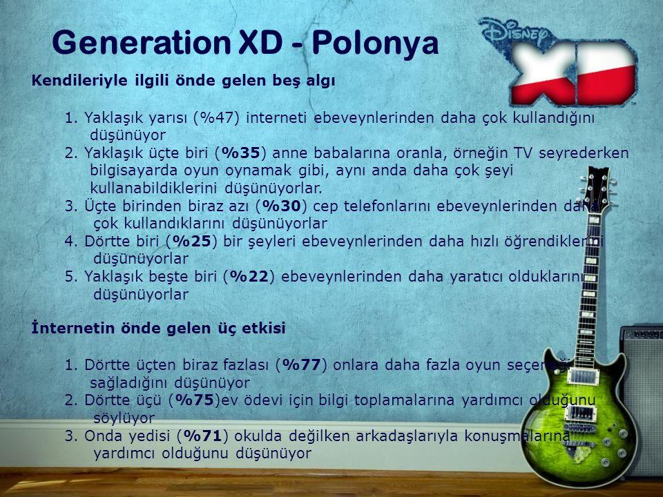 Generation XD - Pol o n ya Kendileriyle ilgili önde gelen beş algı 1.