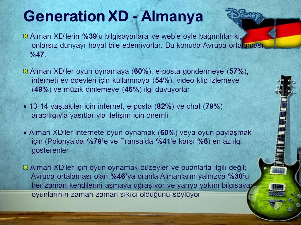 Generation XD - Almanya Alman XD'lerin %39'u bilgisayarlara ve web'e öyle bağımlılar ki, onlarsız dünyayı hayal bile edemiyorlar.