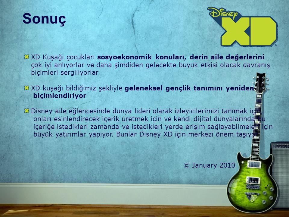 XD Kuşağı çocukları sosyoekonomik konuları, derin aile değerlerini çok iyi anlıyorlar ve daha şimdiden gelecekte büyük etkisi olacak davranış biçimleri sergiliyorlar XD kuşağı bildiğimiz şekliyle geleneksel gençlik tanımını yeniden biçimlendiriyor Disney aile eğlencesinde dünya lideri olarak izleyicilerimizi tanımak için, onları esinlendirecek içerik üretmek için ve kendi dijital dünyalarında bu içeriğe istedikleri zamanda ve istedikleri yerde erişim sağlayabilmeleri için büyük yatırımlar yapıyor.