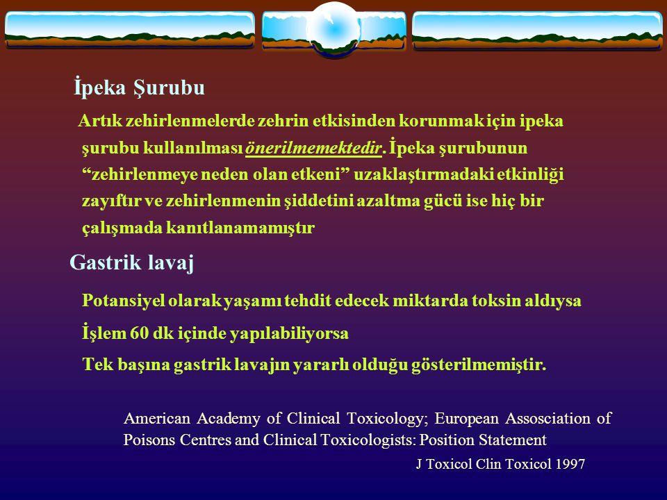 """İpeka Şurubu Artık zehirlenmelerde zehrin etkisinden korunmak için ipeka şurubu kullanılması önerilmemektedir. İpeka şurubunun """"zehirlenmeye neden ola"""