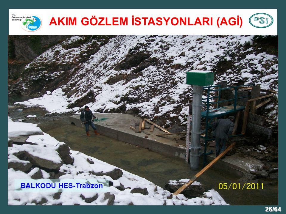 26/64 BALKODU HES-Trabzon AKIM GÖZLEM İSTASYONLARI (AGİ)