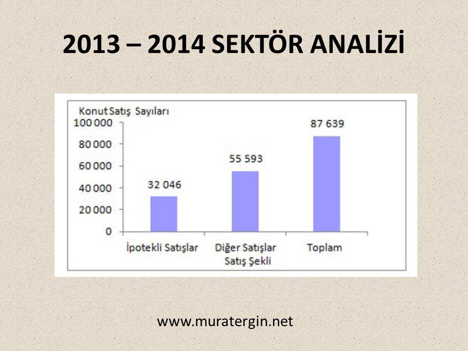 2013 – 2014 SEKTÖR ANALİZİ www.muratergin.net