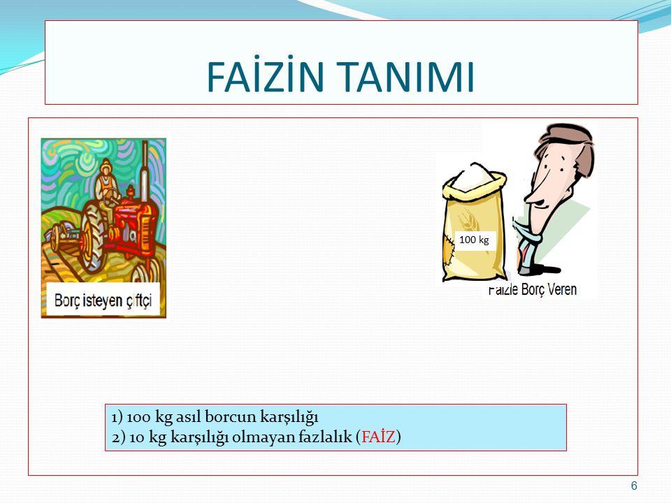TİCARETİN TANIMI 1) Müşteri para verdi 2) Satıcı paradan başka bir malı (muz) verdi Bir malı başka bir mal ile değiştirmektir.