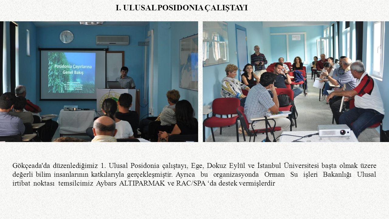 Gökçeada'da düzenlediğimiz 1. Ulusal Posidonia çalıştayı, Ege, Dokuz Eylül ve İstanbul Üniversitesi başta olmak üzere değerli bilim insanlarının katkı