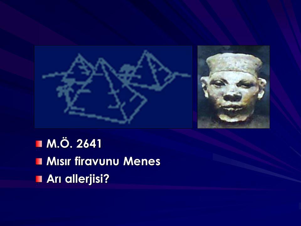 M.Ö. 2641 Mısır firavunu Menes Arı allerjisi?