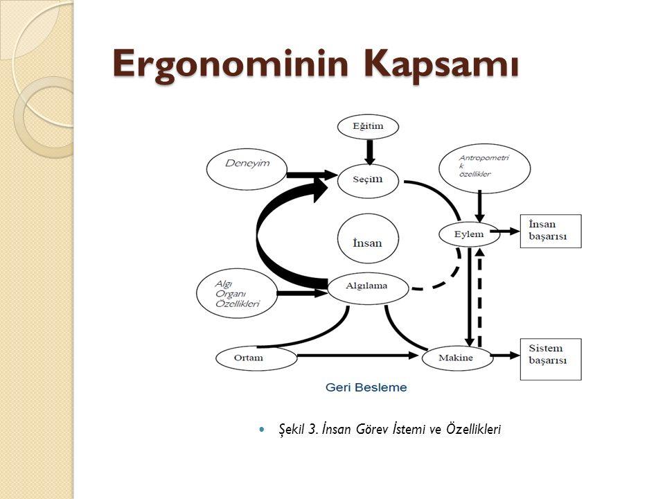 Ergonominin Kapsamı Şekil 3. İ nsan Görev İ stemi ve Özellikleri