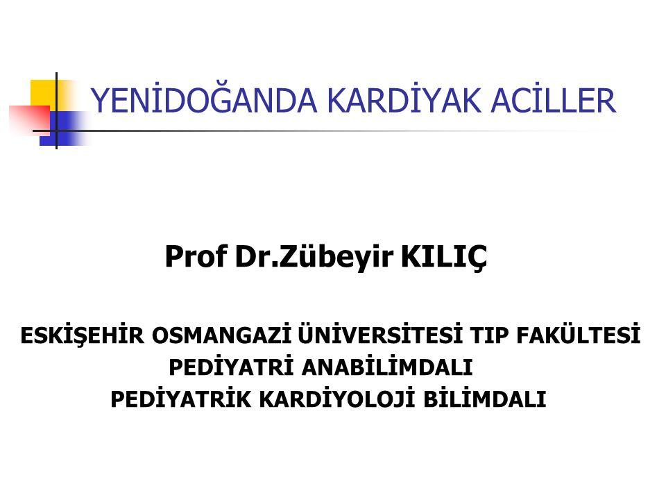 YENİDOĞANDA KARDİYAK ACİLLER Prof Dr.Zübeyir KILIÇ ESKİŞEHİR OSMANGAZİ ÜNİVERSİTESİ TIP FAKÜLTESİ PEDİYATRİ ANABİLİMDALI PEDİYATRİK KARDİYOLOJİ BİLİMD